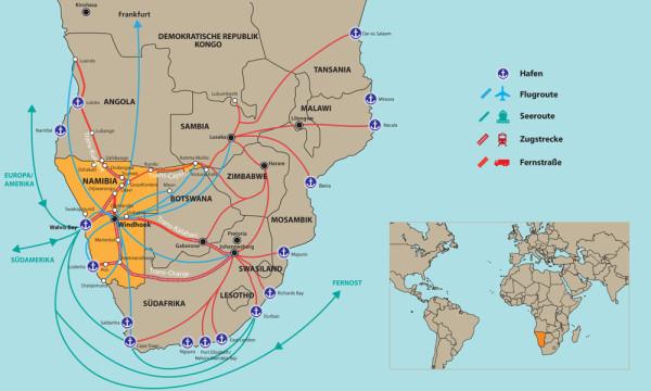 NAMIBIA-Karte